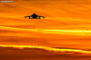 Panavia Tornado GR-4 at RAF Marham sunset