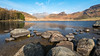 Blea Tarn (L A H Photography) Tags: landscape wideangle mountain water lake lakedistrict bleatarn rugged trees serene rocks g80 light shade tranquil nature landscapephotography