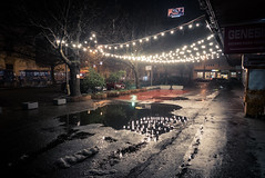 Lights of the New Year (Gilderic Photography) Tags: bratislava roadtrip lights night slovakia reflection water alone empty city urban winter tree