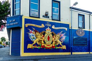 UK - Northern Ireland - Belfast - Shankill Road - Unionist Mural