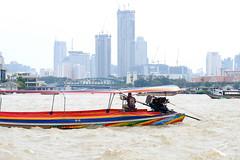Longtail Boat (derNubo) Tags: thailand bangkok maenamchaophraya river longtailboat skyline