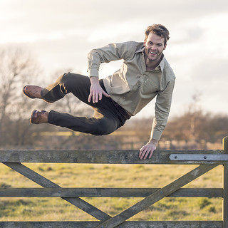 Jamie jumping a Gate