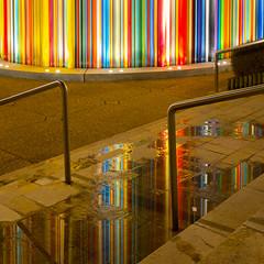 La Défense, Paris (Glassholic) Tags: architecture abstract paris color colour couleur reflection upstairs