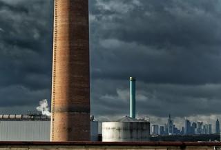 Dicke Wolken über Frankfurt...