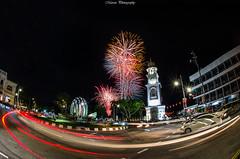 Happy Chap Goh Mei (Marcus Lim @ WK) Tags: festival firework light cartrail car street landscape night nightscape nikon fisheye