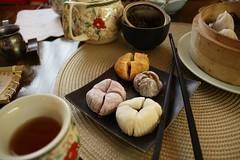 Mochi from heaven (Nina A. J. G.) Tags: mochi nyc teahouse tea japanese japanesefood dumplings chopsticks