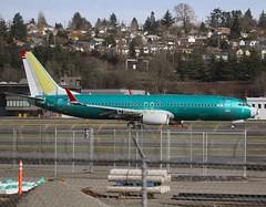 Norwegian Air International                                      Boeing 737                                         Line Number 5777 ( EI-FJH )  N1796B (Flame1958) Tags: norwegian norwegianb737 eifjh boeingfield ln5777 020216 0216 2016 boeing737 boeing 737 b737 primer seattle 2018 n1796b