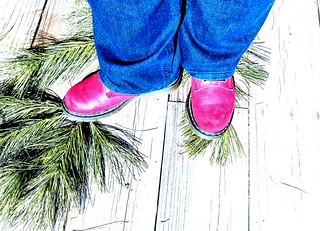 Day 18 of Year 9- My boots look pink...