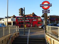 Diverted169-A123-GantsHill-P1440012 (citytransportinfo) Tags: bus london routebranded gantshill road traffic sunshine sunny