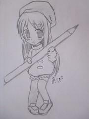 Chibi Drawing! (21PixelArts) Tags: manga chibi sketch