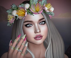 I Promise You Forever (lauragenia.viper) Tags: 4mesh avimote bento chloe euphoric foxy glamaffair lelutka liquid lumipro lyrium maitreya powderpack secondlife secondlifefashion slipperoriginals portrait closeup avatar virtual face ring outdoor evening dusk secondlifeblogger secondlifemodel laurageniaviper applier makeup flowers