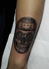 Calavera de azucar (Bastian Klak) Tags: tattoo tatuajes ink chile santiago bastian gac bastianklak blackwork blackworkers stippled sugarskulltattoo calavera calaca craneo mexico