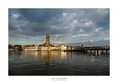 Deventer sur Mêr (Zino2009 (bob van den berg)) Tags: flooded wetfeet water rising ijssel river high level waterlevel wet bridge city landscape waterscape sky snow light sunlight local centre tower church mediaval reflection deventer building