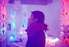 Maze Lights (Hayden_Williams) Tags: portrait girl woman person lady asiangirl asianwoman prettygirl purple analog analogue nyc newyorkcity museumofartsanddesign museum lights colorful colors cold lifestyle