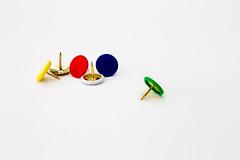 drawing pins (mikecartwright1) Tags: drawingpins tacks pins stationary colours