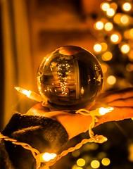 """Christmas"" Crystal . . . (Dr. Farnsworth) Tags: christmas tree animal cabin lights hand crystal ball refraction fernridge mi michigan winter february2018"