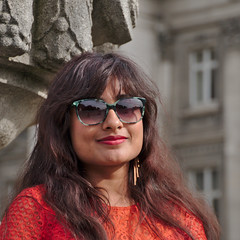 (Debarshi Ray) Tags: belgium brussels summer city building statue windows canon canoneos70d tamron tamronaf18270mmf3563 girl lady woman female wife girlfriend dress brunette sunglasses glasses hair portrait pretty earrings ears beautiful gorgeous placedespalais paleizenplaats smile lips palace