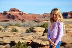 Violet On The Cave Spring Trail (Joe Shlabotnik) Tags: nationalpark justviolet utah hiking violet 2017 canyonlands november2017 canyonlandsnationalpark afsdxvrzoomnikkor18105mmf3556ged