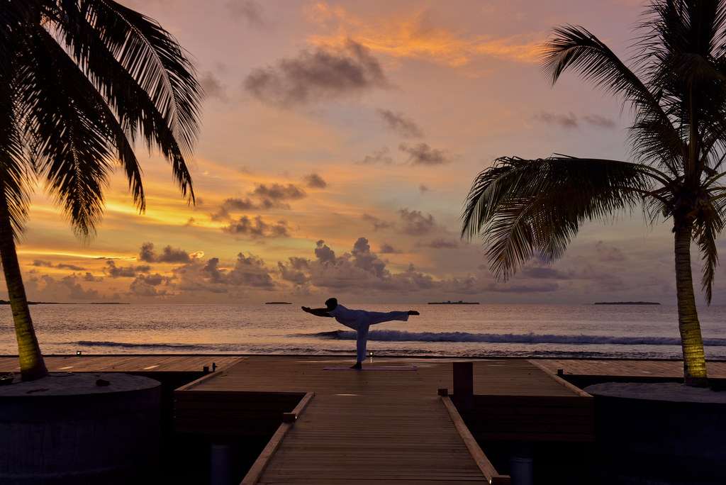 Yoga on the Main Beach Deck