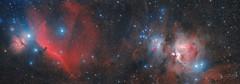 Nebulae in Orion (Alejandro Pertuz) Tags: orion nebula horsehead flame gas dust clouds constellation space cosmos universe astrophotography astronomy science stem winter telescope canon skywatcher stargazing astrometrydotnet:id=nova2438037 astrometrydotnet:status=solved