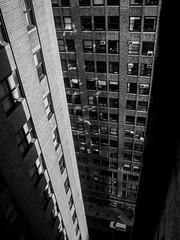 urban canyon (GeoMatthis) Tags: newyork nyc black blackandwhite gray architecture city urban hight street schwarzweis architektur light contrast licht kontrast