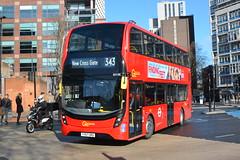 YY67 URU (EH190) Go-Ahead London Central (hotspur_star) Tags: londontransport londonbuses londonbus londonbuses2018 alexanderdennisltd enviro400hmmc tfl transportforlondon hybridbus hybridtechnology busscene2018 doubledeck yy67uru eh190 343