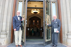 Dave and Bill open Cathedral Doors