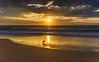Golden Hour Sunrise Seascape (Merrillie) Tags: daybreak sunrise shellybeach nature australia surf golden centralcoast morning newsouthwales waves earlymorning nsw sea beach ocean sky clouds landscape coastal cloudy outdoors seascape waterscape coast water dawn