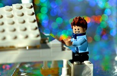 Anyone remember Liberace? (linda_lou2) Tags: 365the2018edition 3652018 day62365 03mar18 62365 365toyproject lego minifigure minifig piano bokeh