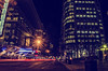Dinner at the Ritz (Paul B0udreau) Tags: canada ontario niagara paulboudreauphotography nikon nikond5100 photoshop layer toronto nikkor50mm18 longexposure buildings nighttime lightstreaks car ritzcarlton