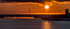 Sunrise at Vadso Norway (jerry_lake) Tags: auroraborealistrip d4 hurtigruten norway port seaeagles vadso bridge mast northernlights seamist sunrise