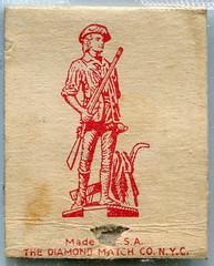 Vintage Matchbox (gill4kleuren - 16 ml views) Tags: intage old scan maps sigarets art matchbooks matchcover matches smoking text sign circle writing duty war bonds stamps road