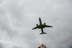 up (Yuliya Bahr) Tags: minimal minimalistic airplane sky thunder family portrait people weather airport gray clouds couple child