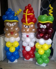 ballon pieten en sinterklaas