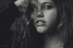 Guenuche Portrait bw 06 (RickB500) Tags: portrait girl pavlina guenuche rickb rickb500 sensual beauty model bnw hair eyes guenuchebook