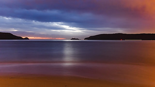 Overcast Cloudy Daybreak Seascape