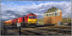 Bishton Crossing - Take II (Welsh Gold) Tags: 60063 robeston westerleigh murco oil tanks train bishton level crossing gwr box magor southwales