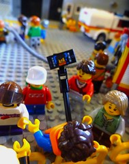 Brickvention 2018 Teaser (Lonnie.96) Tags: brickvention 2018 victoria australia melbourne fire city selfie minifigure stick camrea photo hose truck emergency open day geelong station cfa country authority pumper tanker fence display moc custom collectible ninjago exhibition exhibitor hot friday 2