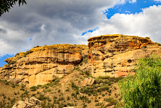 Sandstone and clouds