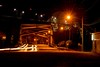 DSC_6292 (Copy) (pandjt) Tags: roadtrip unitedstates usa michigan saultstemariemichigan saultstemarie westportageavenuebridge powercanal steelarchbridge bridge nightphotography