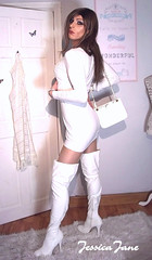 All White (jessicajane9) Tags: tg crossdress tgurl tv transgender lgbt tranny feminization crossdresser transvestite m2f cd travesti crossdressing trans tgirl xdress boots