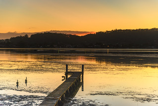 Dawn Waterscape and Wharf