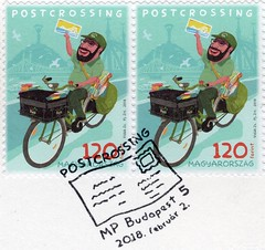 Postcrossing stamp from Hungary 2018. (cbrozek21) Tags: stamp postalstamp znaczek sello filatelistyka philately filatelia collecting collectingstamps postcrossing postage briefmarke