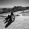 View From The Top (Cornelli2010) Tags: canon1635mmf4lisusm canoneos5dmarkiii bw backlight berg blackandwhite cold deutschland gegenlicht germany landscape landschaft mountain natur nature people schnee schwarzweis snow sonne sun sunny winter zugspitze snowboard snowboarder snowboarding
