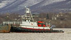 Tugboat Lucinda Smith & Barge SH 222 (thetrick113) Tags: tugboatlucindasmith lucindasmith tugboat hudsonriver river sonyslta65v hudsonvalley hudsonhighlands hdr hudsonrivervalley hudsonrivertugboat newburghnewyork barge hopperbarge vessel workingvessel winter2018 2018 winter mtbeacon mountbeacon i84hudsonriverbridge bargesh222