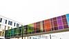 - Colourful Project (1) - (Jacqueline ter Haar) Tags: liag architecten pmc utrecht workinprogress staalconstructie vliesgevels gekleurd glas bridge brug colors rainy day