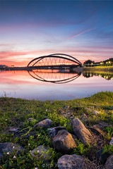 Sunrise at Gemilang Dam (Md Farhan's Gallery) Tags: gemilangdam bridge putrajaya dam stone sunrise nationalgeographic malaysia selangor light cloud sky landscape nature empangangemilang fujifilm fujinon xf1024mm xt1