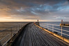 sunset over West Pier Whitby (adriennelucasphotography) Tags: whitby harbour yorkshire sunset pier light cloud shotoftheday sky seascape