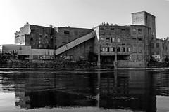 DSC_3322 (PaulPagéPhotos) Tags: domtar ebeddy oldbuildings abandonedplaces historical ottawa gatineau chaudièrefalls ottawariver rivers reflections blackandwhite