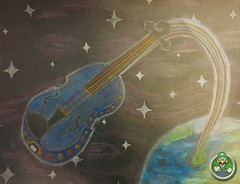 All Over the World (AP Art Project) (Luigi Fan) Tags: ap art electric light orchestra elo colored pencil drawing